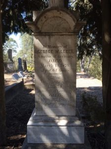 the grave of george leger